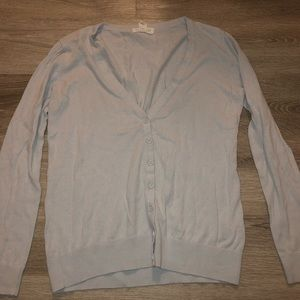 Forever 21 Baby Blue Buttoned Light Sweater